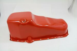 SB Chevy Oil Pan 5qts 1980-85 Orange Powder coated