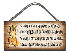 SHABBY CHIC FUNNY WOODEN SIGN I'M ONLY A CAT GIFT PRESENT 84