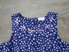 ****AGE 11 YEARS GIRLS PURPLE/BLUE DRESS, BEADED NECKLINE, FLOWER PRINT (C)****
