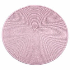 4pcs Dia 38cm Table Mats Jacquard Weaved Non Slip Placemats Dining Wedding Party