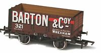 Oxford Rail 76MW7020 OO Gauge 7 Plank Wagon Barton and Co No. 321