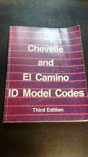 64-72 Chevelle Malibu & El Camino ID reference identification model code book