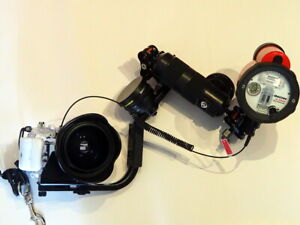 Panasonic Lumix Underwater Camera, INON strobe and lens kit