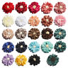 50pcs 5cm Vintage Wrinkles with Match End Do Old Chiffon Fabric Hair Flowers