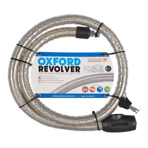 Oxford OF231 Motorcycle Bike Revolver 1.4m Security Armoured Cable Lock Silver