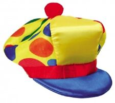 Mens Rainbow Hat  Clown Adult Circus Halloween Funny Fancy Dress Accessory