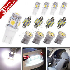 13x Pure White LED Lights Interior Package Kit for Dome License Plate Lamp Bulb