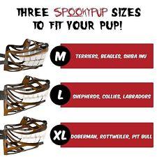 SpookyPup Hilarious Dog Muzzle with Large Teeth Size Medium