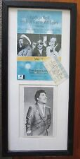 Chuck Berry Signed Program and Ticket Framed San Manuel 2005 - Global Authentics