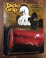 Vtg NOS 70s Tacki-Grip Red Motorcycle BMX Handle Bar Grips California FREE S&H