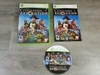 Sid Meier's Civilization Revolution - Complete - Xbox 360 Game with Manual