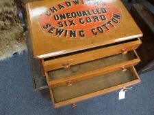 CHADWICKS COTTON REEL SEWING CABINET WITH DRAWERS C1920'S