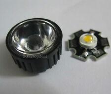 10pcs 3W High Power Warm White LED Light Emitter w/ 20mm Heatsink + 45° led lens
