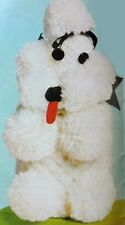 VINTAGE KNITTING PATTERN How To Make a Novelty POODLE DOG TOILET ROLL COVER Toy