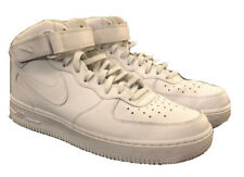 Nike Air Force 1 315123 AF1 White Leather NBA Sneakers Shoes Hi-Top Mens 11.5