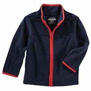 Oshkosh B'gosh Kinder Jungen Fleece Jacke Jacket Boys Dunkelblau Rot 128 164