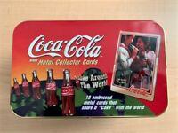 NEW Coca-Cola Coke Around the World Metal Collector Cards set of 10 w/COA