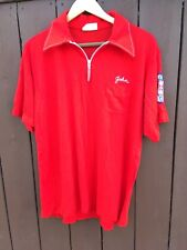 Men's Vintage King Louie Kansas Bowling Shirt Red Patch Hill Top Lanes Syracuse