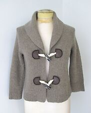 VGC J Crew Sage Green Lambswool Cashmere Cardigan Sweater Shawl Collar Toggles S
