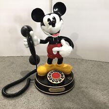 Vintage Mickey Mouse Animated Talking Telephone Disney Phone TeleMania