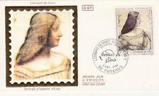 Enveloppe 1er Jour PUTEAUX 08/11/1986 de Vinci portrait d'Isabelle d'Este