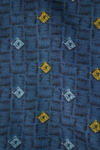 Vintage Tootal blue cravat with repeating pattern