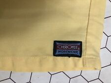 Cheroke Workwear Light Yellow Medium 4 Tops & 3 Bottoms Long Scrubs Great Cond.