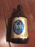 """Vintage PIELS LIGHT BEER BOTTLE 7"""" H with label"""