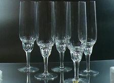 VINTAGE CHAMPAGNE SET OF 5 GLASSES TEAR DROP STEM GISTL 1960 GERMAN