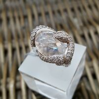 STERLING SILVER RING BY THOMAS SABO, SNAKE SHAPE RING, LARGE CZ, SIZE 50, BNWT