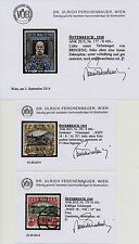 Gestempelte Briefmarken mit BPP-Fotobefund österreichische