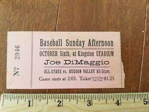 1946 Joe DiMaggio All-Stars Yankees Exhibition Baseball Game Ticket Stub