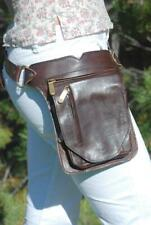 Leather Fanny Pack, Festival Waist Pack, Women Belt Bag, Brown Hip Bag Men