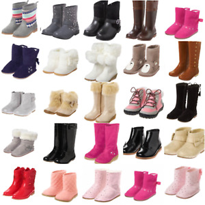 Gymboree Girls Boots 4 5 6 7 8 9 10 11 12 1 2 3 Holiday White Fuzzy Gray Black