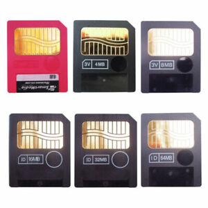 2MB 4MB 8MB 16MB 32MB 64MB SM SmartMedia Memory Card 3.3 V Samsung Genuine +Case