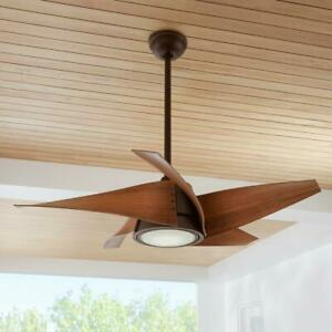 "Home Decorators  Broughton 42"" LED Espresso Bronze Ceiling Fan w/ Light & Remote"