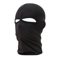 Outdoor Motorcycle Full Face Mask Balaclava Ski Neck Protection Black