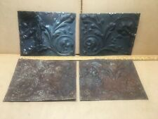 """4pc Lot of 11.5"""" by 9.5"""" Antique Ceiling Tin Vintage Reclaimed Salvage Art Craft"""
