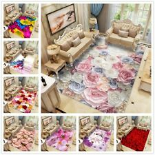 3D Roses Flower Carpets Living Room Area Rugs Kitchen Bedside Rug Doormats Decor