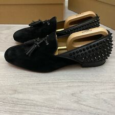 Christian Louboutin black loafers Suede 9UK 43 9