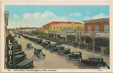 Main Street Looking South in Yuma AZ Postcard