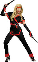Noir Ninja fille costume NEUF - femmes carnaval déguisement costume