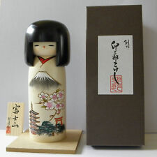Beautiful wood doll *** Fuji Mountain / Newly designed Japanese Kokeshi Doll