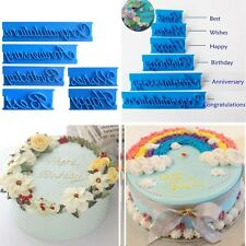 6Pcs Blessing Letter Fondant Cake Cutter Mould Decorating Icing Sugarcraft Tools
