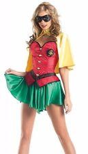 SEXY MISS ROBIN 5 - PIECE HALLOWEEN COSTUME BATMAN + BONUS NAIL DECALS  SIZE S/M