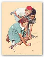 CHILDRENS ART PRINT Knuckles Down Norman Rockwell