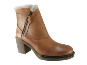 New CARMELA Women's Leather Camel Ankle Boots Size 37 EUR / US 6
