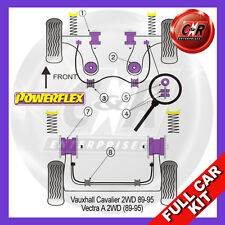 Opel Vectra A (89-95) Powerflex Complete Bush Kit