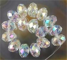 140Pcs Clear Multicolor Crystal Faceted Gems Loose Beads 5x8mm 5040 +AB
