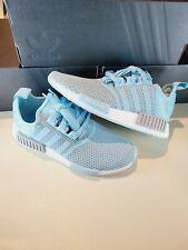 Size 7 Men's Adidas NMD R1 'Hazy Sky' Blue White [H01918]  Shoes *